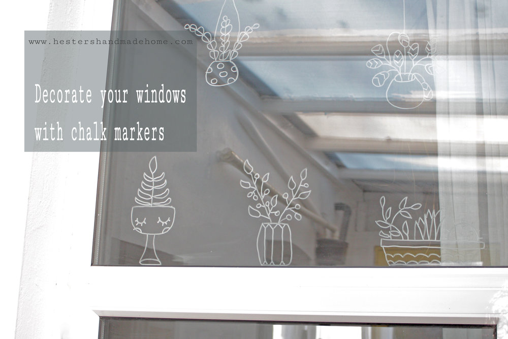 Decorate your window with chalk markers