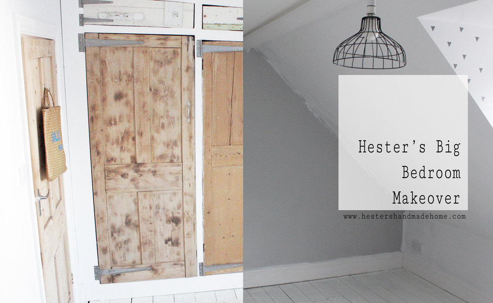 the big bedroom makeover by Hesters Handmade Home