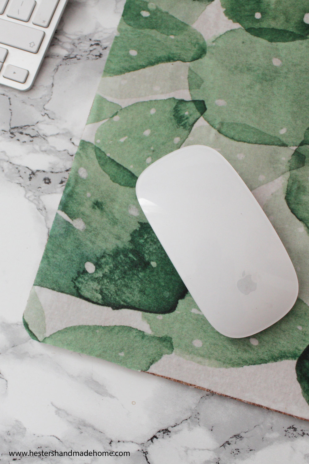 mouse mat diy by www.hestershandmadehome.com