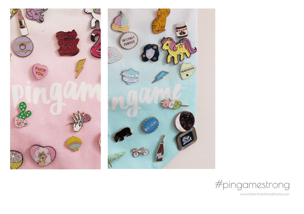 How amazing is Kat's pin collection!