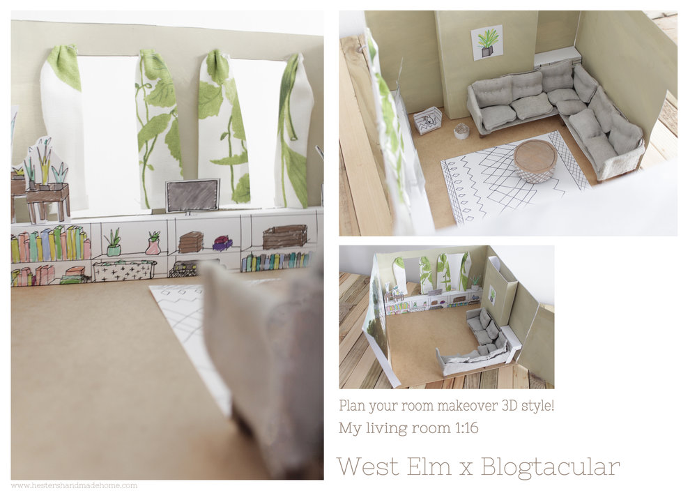 My mini West Elm house by www.hestershandmadehome.com