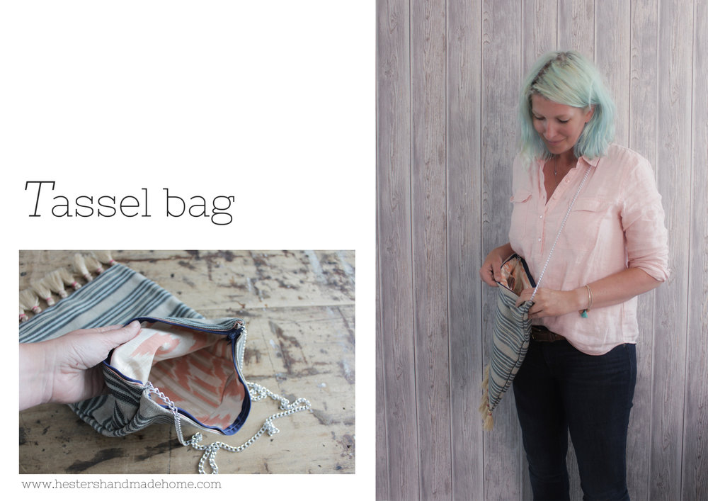 Tassel bag tutorial by www.hestershandmadehome.com