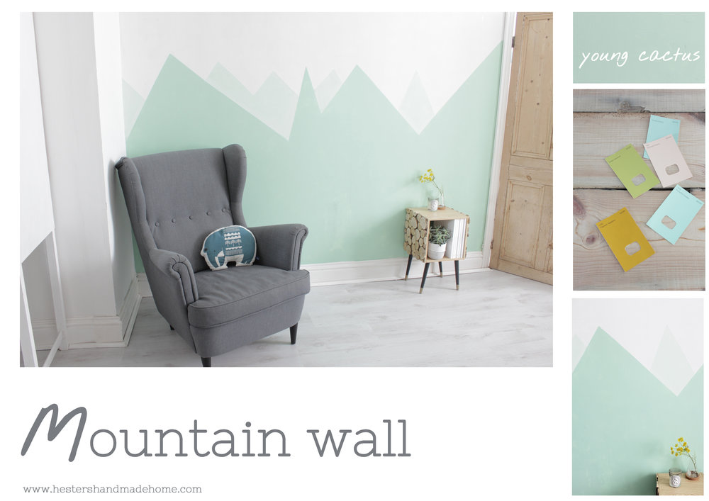 Paint mountains on your wall by www.hestershandmadehome.com