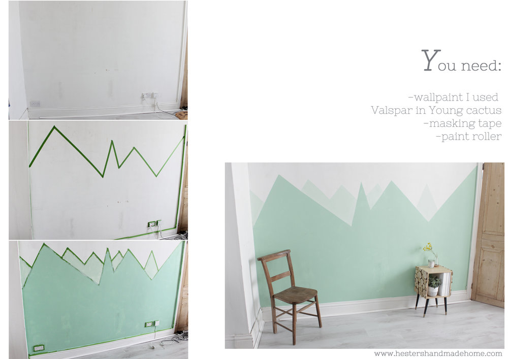 Painted mountain by www.hestershandmadehome.com