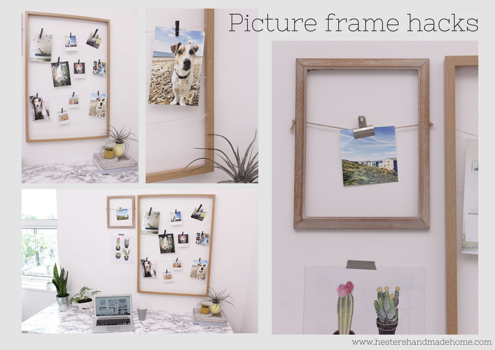 Picture frame hack by www.hestershandmadehome.com
