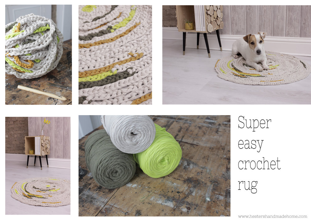 Crochet rug for no crochet people by www.hestershandmadehome.com