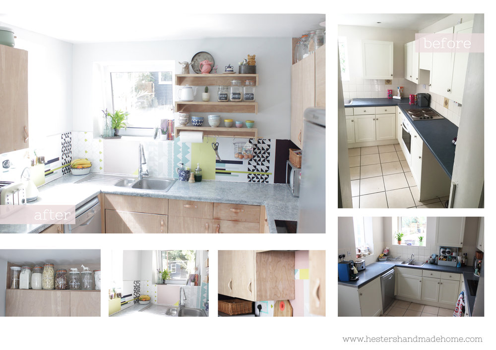 kitchen makeover by www.hestershandmadehome.com