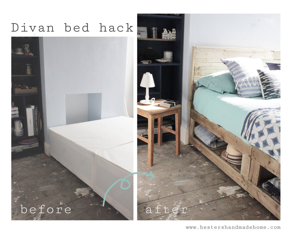 Bed hack by www.hestershandmadehome.com