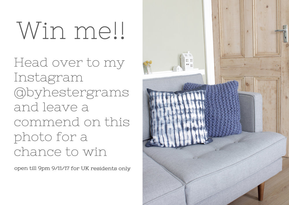 Win these lovely REW homeware cushions from Etsy UK www.hestershandmadehome.com