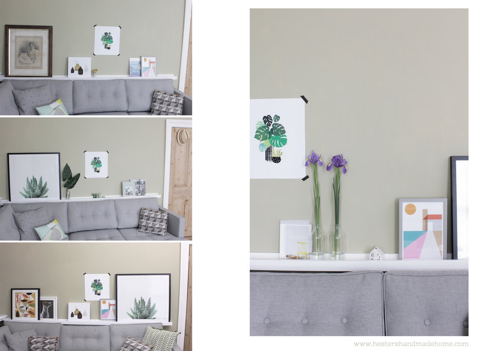 How to build and style a picture ledge by www.hestershandmadehome.com