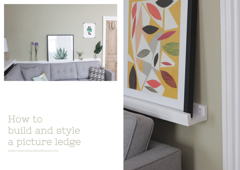 build and style a picture ledge with www.hestershandmadehome.com