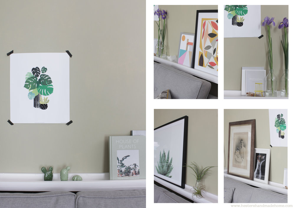 Build and style a picture shelf with www.hestershandmadehome.com