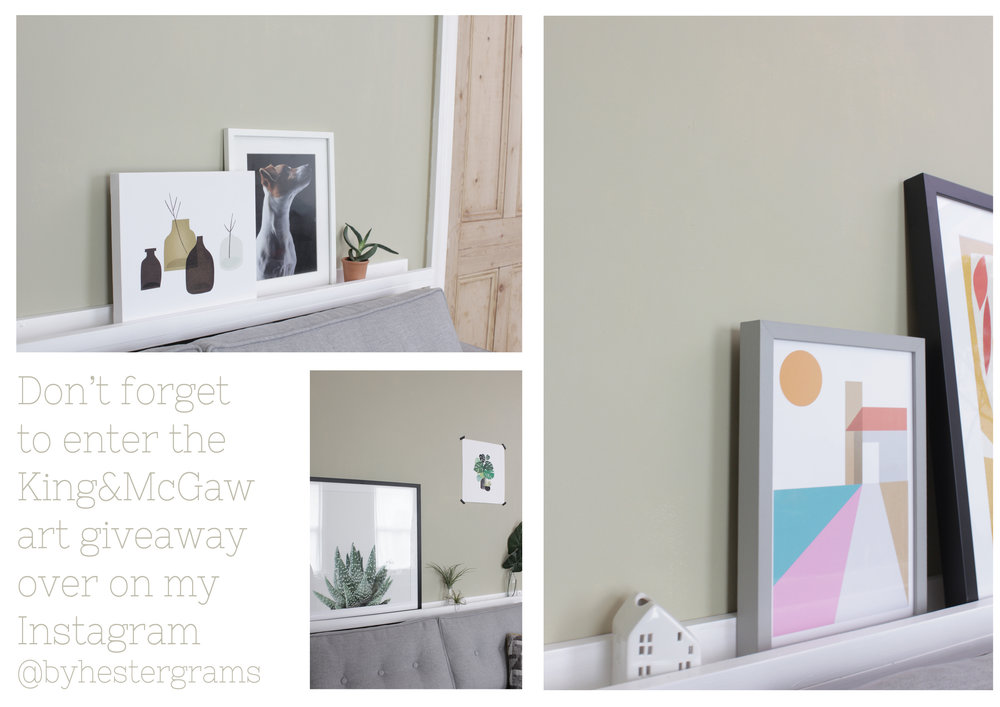 Art giveaway and picture shelf tutorial on www.hestershandmadehome.com