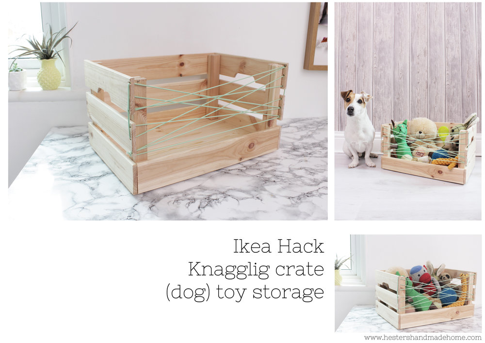 Ikea Hack Wooden Crate Knagglig To Toy Storage Tutorial By  Www.hestershandmadehome.com