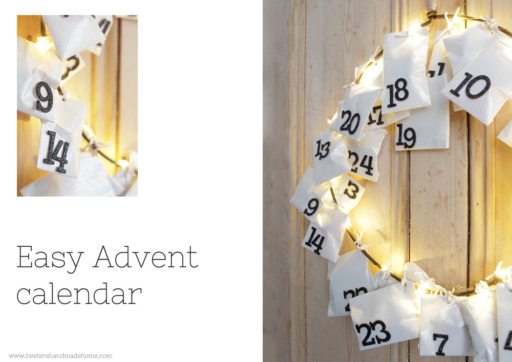 Easy make advent calendar by www.hestershandmadehome.com