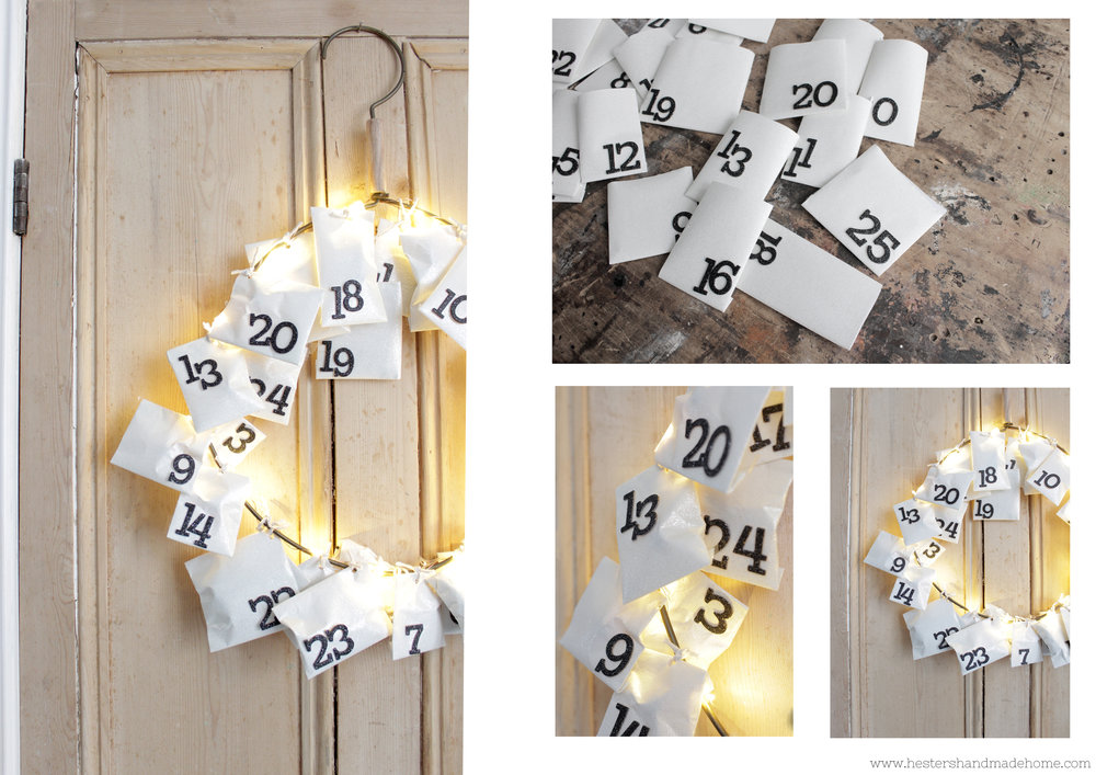 Last minute advent calendar by www.hestershandmadehome.com