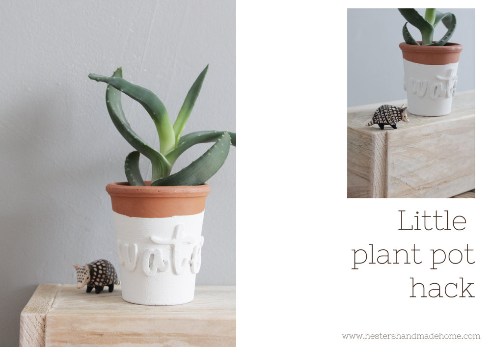 little plant pot hack by www.hestershandmadehome.com
