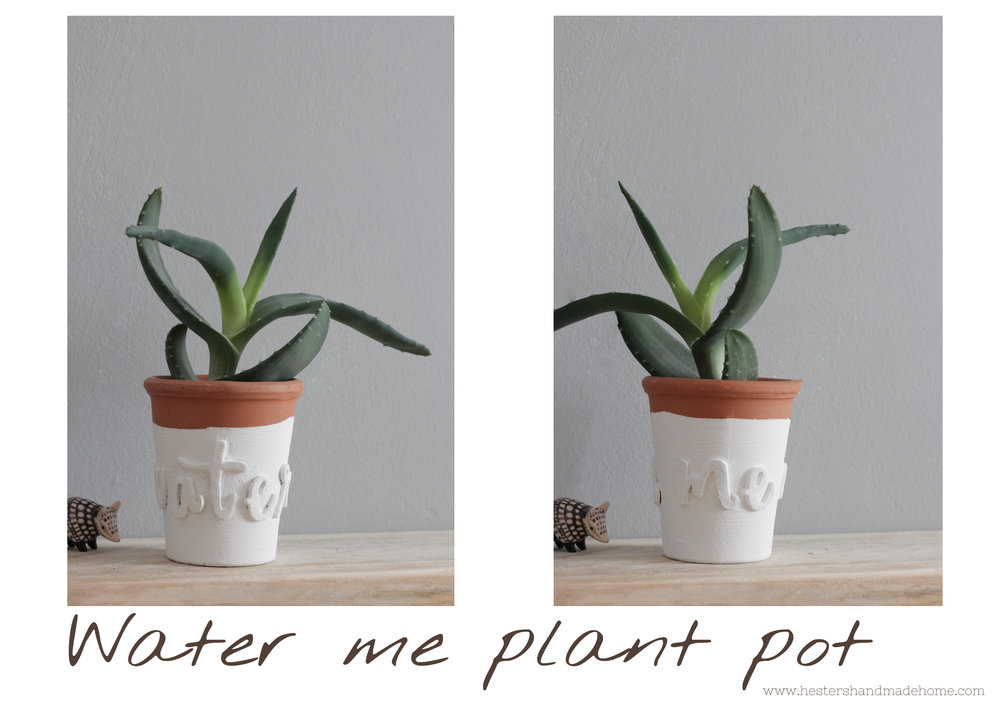 Decorate a small plant pot by www.hestershandmadehome.com