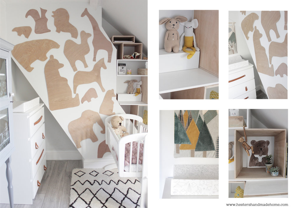 Woodland themed nursery by www.hestershandamdehome.com