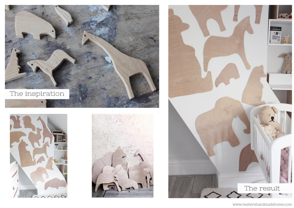 Plywood animal wall decor by www.hestershandmadehome.com