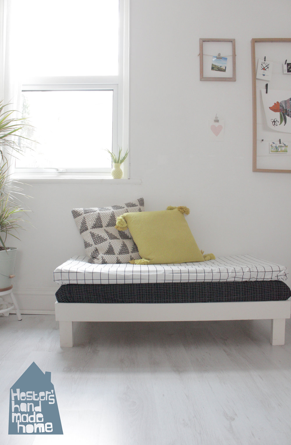 Small day bed made from cot mattresses by Hesters handmade Home.jpg