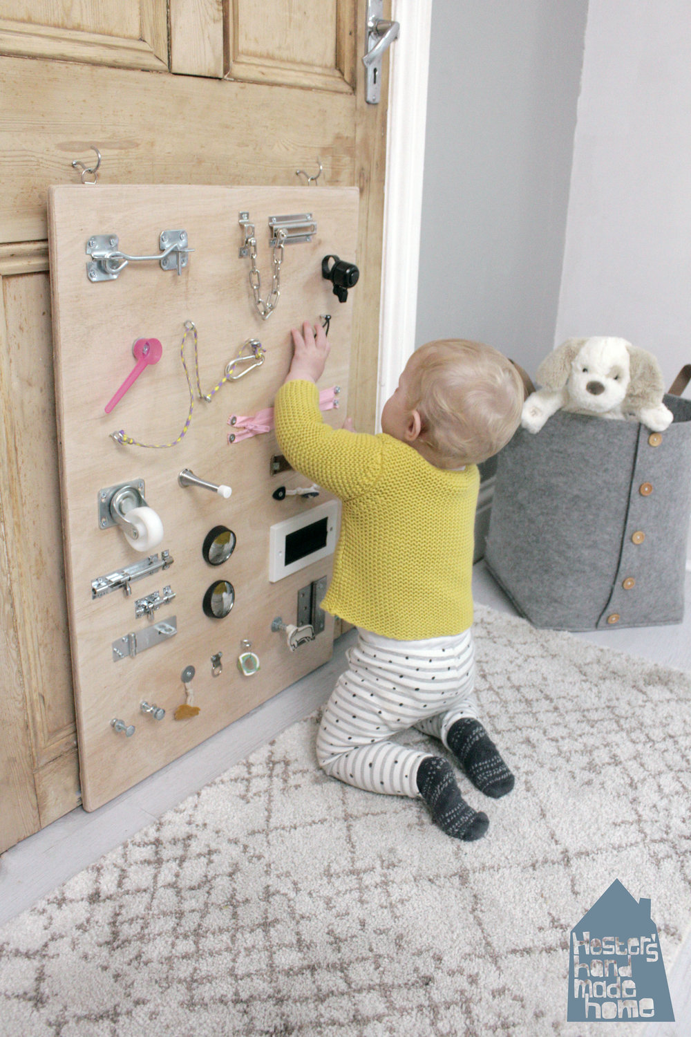 baby busy board by hesters handmade home