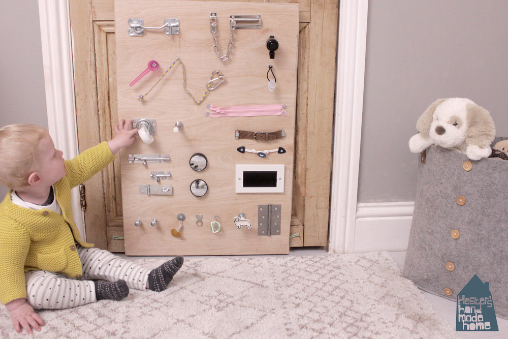 make a baby busy board, tutorial by hesters handmade home