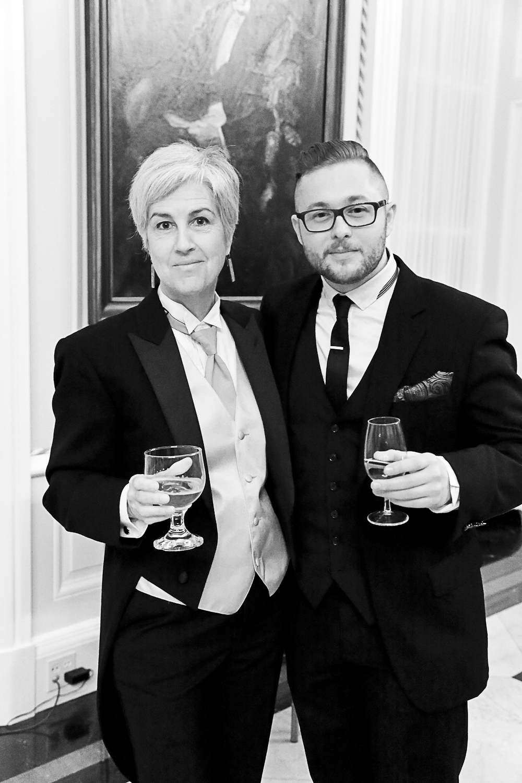 Professor Lorraine Gilbert and MFA alumus Brendan de Montigny