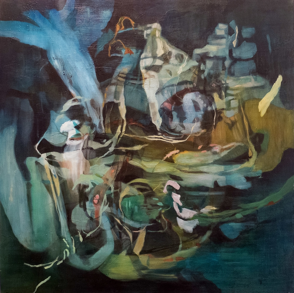 Heidi Conrod,  Lost Battles . 2016. Oil on canvas.  56X56""