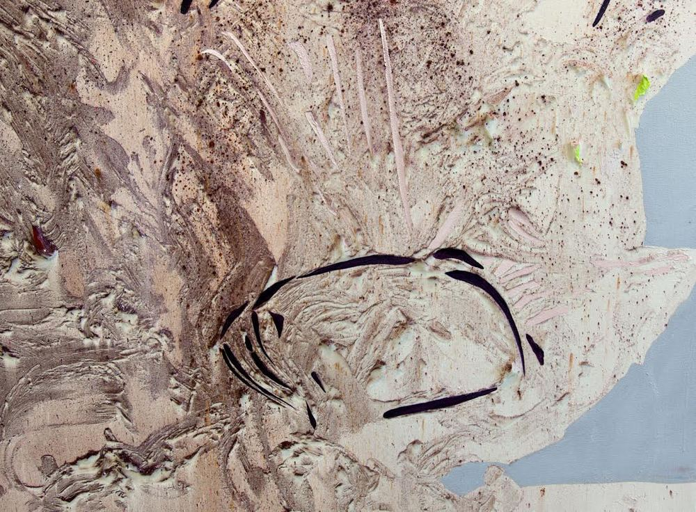 Pink Lake Mica III  (detail) Cold Wax Medium, Oil, and Raw Pigments on Canvas, 8x5 feet, 2016