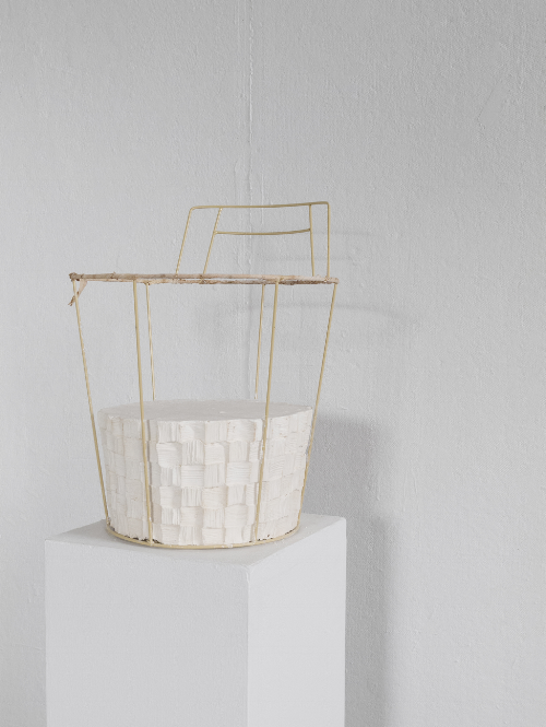 Catch and Release, 2014, Found object, plaster, 18 x 14 x 14 inches