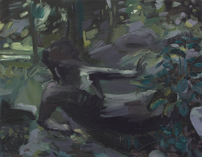 Stanzie Tooth,  Stoppage  (2015), oil on canvas, 11 x 14 inches