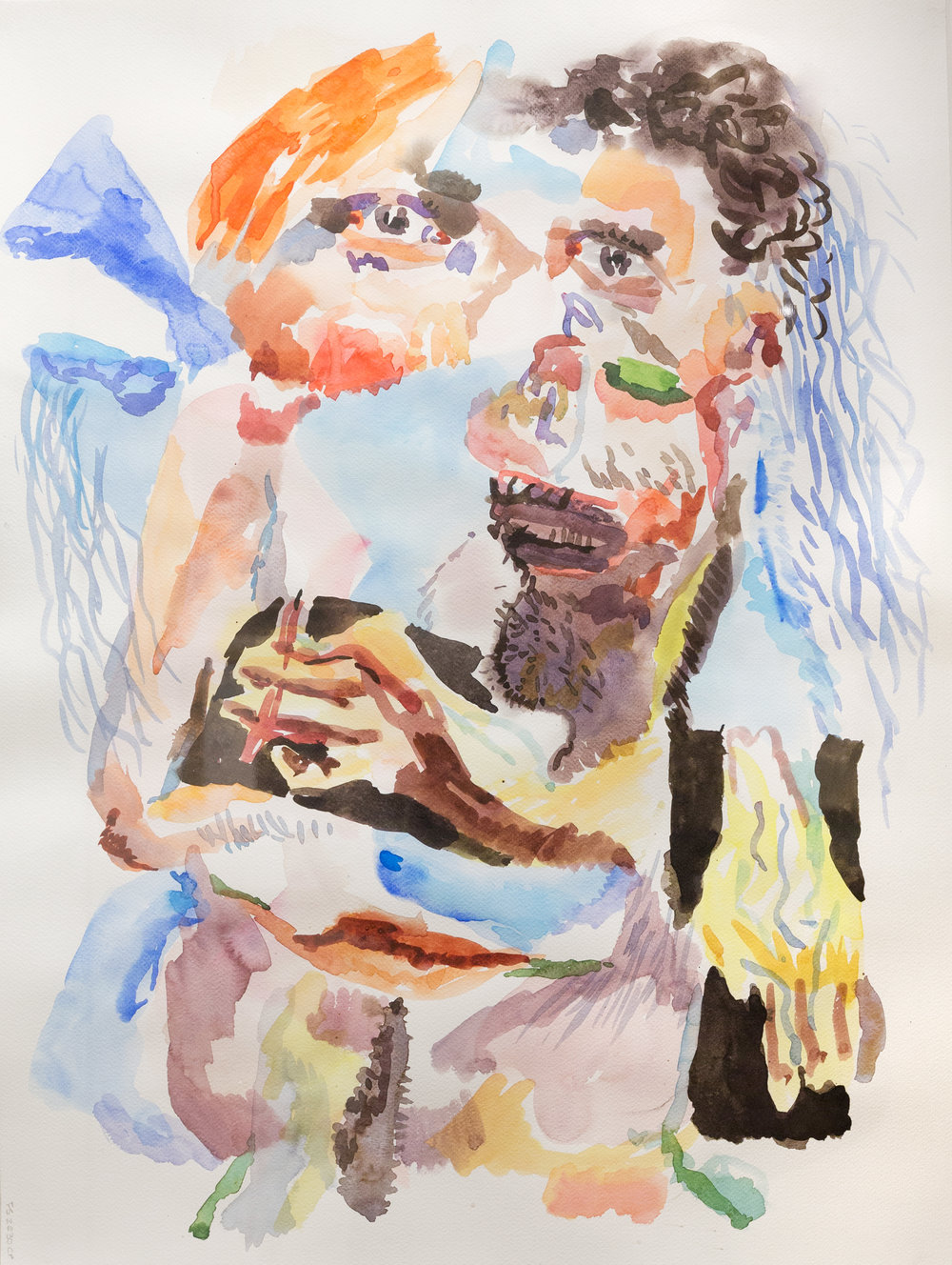 Colin Muir Dorward,  T   alking About What To Do Tonight   ,  2013, watercolour on paper, 76 x 55 cm, 2017