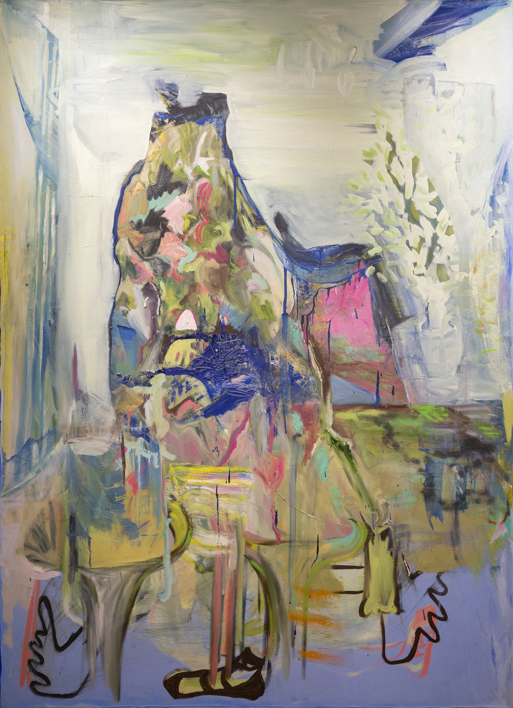 Natasha Doyon,  Living Room , 2013, oil on canvas, 198 x 137 cm
