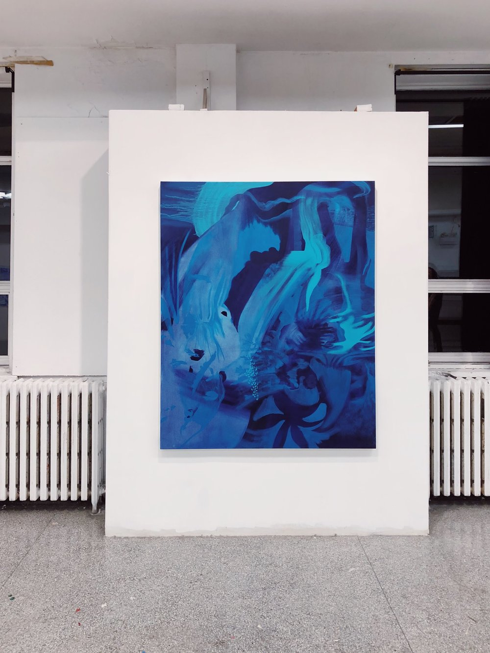 Tiffany April, painting installation, oil on canvas