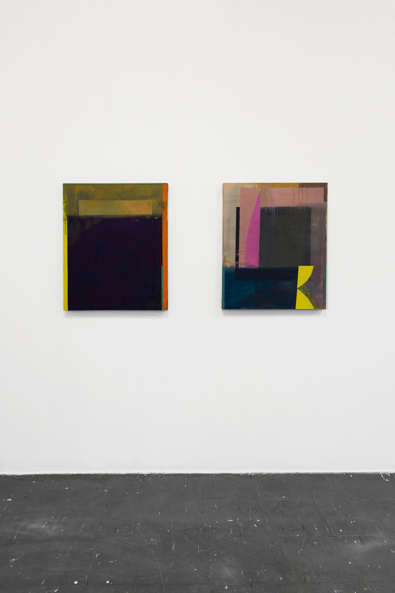 Emma Carney, painting installation, oil on canvas