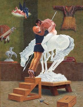 Fig. 5. Kent Monkman.  Icon for a New Empire , 2007. Acrylic on canvas, 108 in. x 84 in.