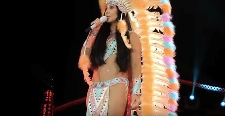 Fig. 8. (right) Cher. Official  Half-Breed  Music Video, 1973. (CherChannelHD). Screen Capture