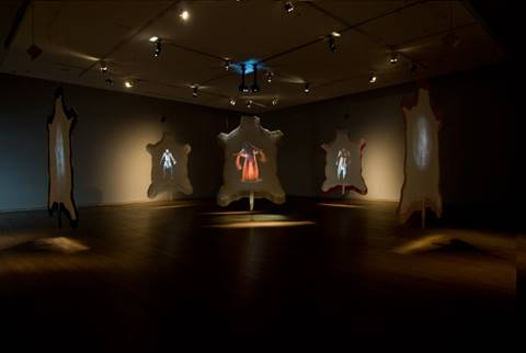 Kent Monkman.  Dance to the Berdashe,  2008. Five-channel video installation. Photo: Montreal Museum of Fine Art, Christine Guest