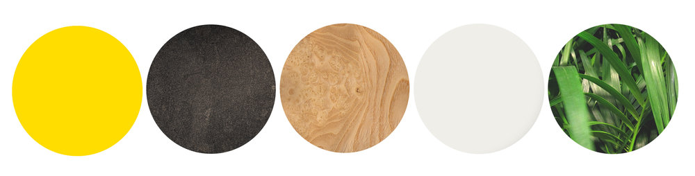 bright colour, deep texture of metal finishes, wood grain, soft whites and the vibrant variations of plants.