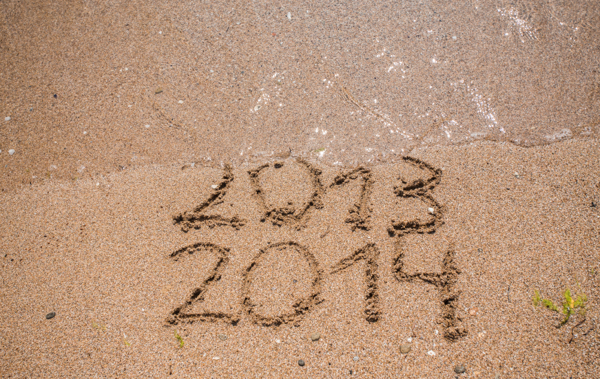 New Year 2014 is coming concept