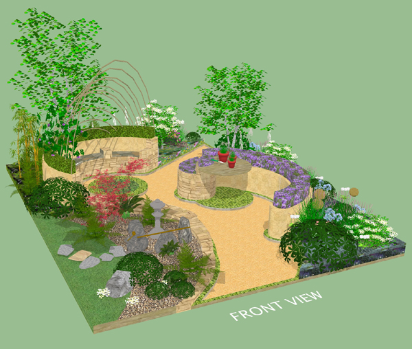 Original garden design by Pippa Snowden and Riseholme & Bishop Burton Colleges