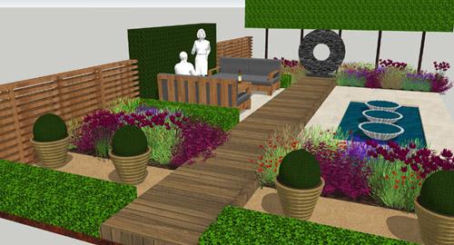 Original garden design by Bestall & Co