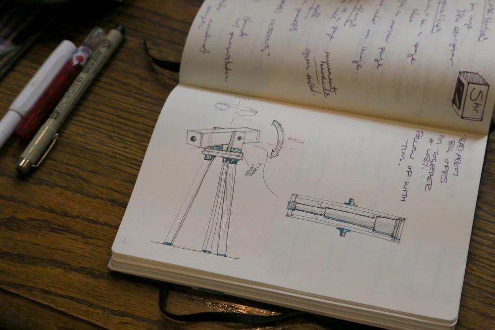 Pepin Gelardi's sketchbook.