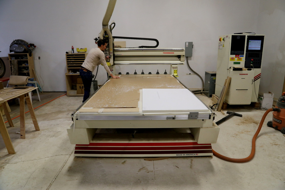 Work begins on the CNC Router