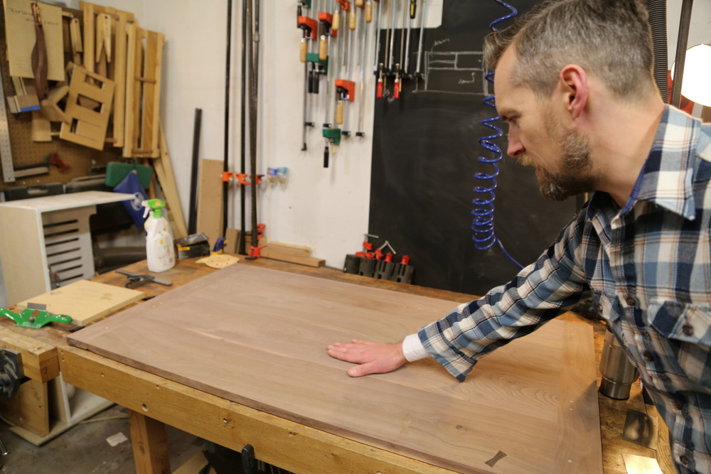 Beidel is working on a desk top.