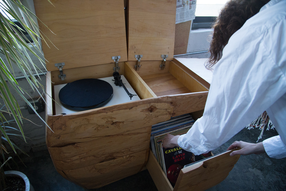 Fort Makers Record Player Console.