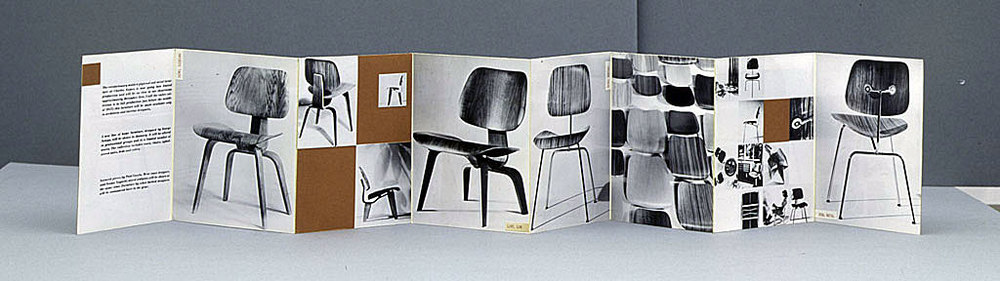 Eames molded plywood chair, circa 1946. Library of Congress.