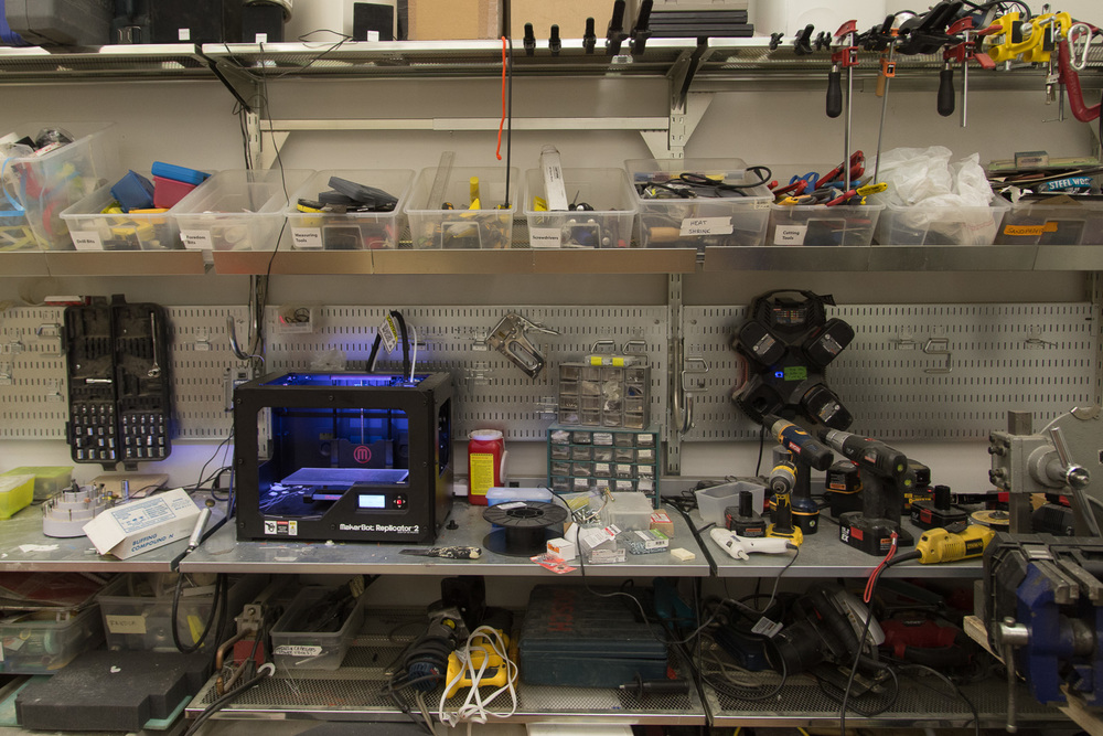 Second 3D printer and countless tools.