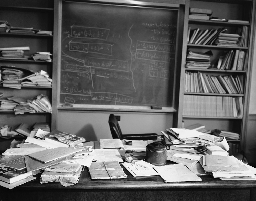 Albert Einstein's desk as he left it.